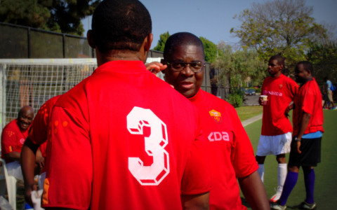 Congolese community in LA gathers every week for playing soccer