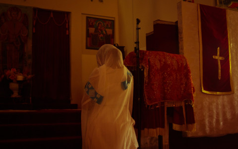Every Sunday Ethiopians gather in church early in the morning