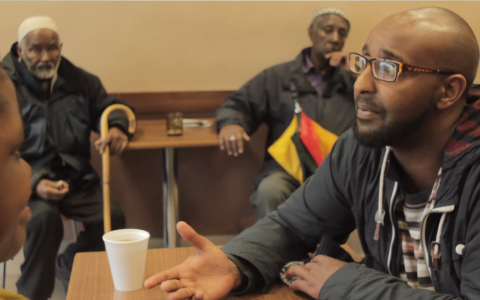 Hassan Panero is a poet from Somalia, he co-wrote a  theatrical show to let Cardiffians into Butetown